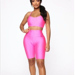 New Fashion Nova Hot Pink Sports Bra